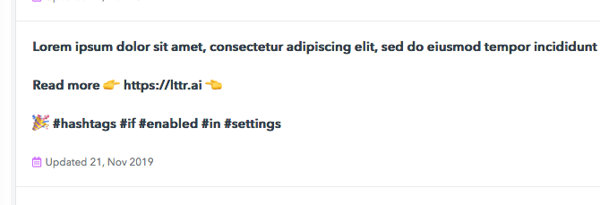 Content templates update