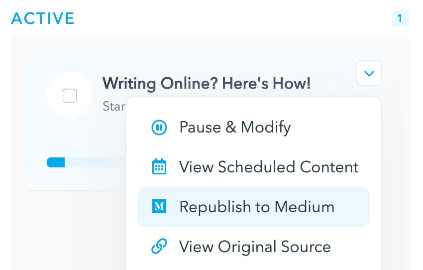 Publishing to Medium - enhancements