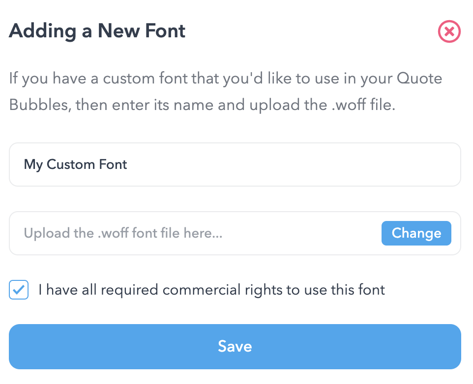 Custom Fonts Anyone?