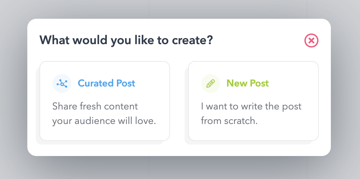 Add Curated Content From the Calendar