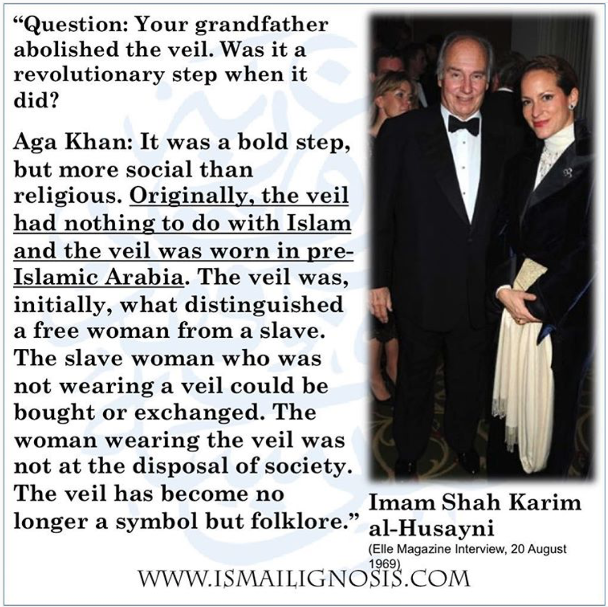 Why Dont Ismaili Women Wear Hijabs Veils Ismaili Gnosis Answers