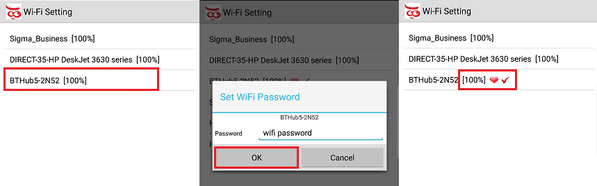 Setting up the Wifi connection in the Ucam247live app