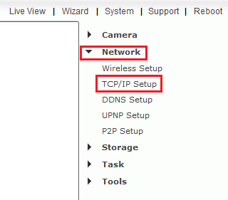 Setting the camera to a static IP    UCAM247 Home Security