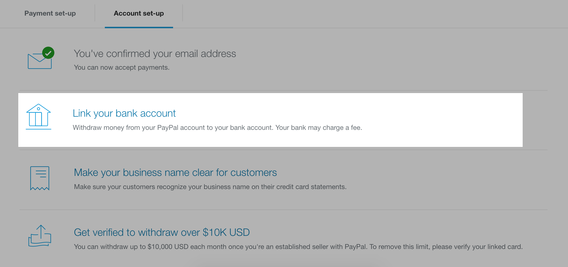 PayPal account | EasyStore