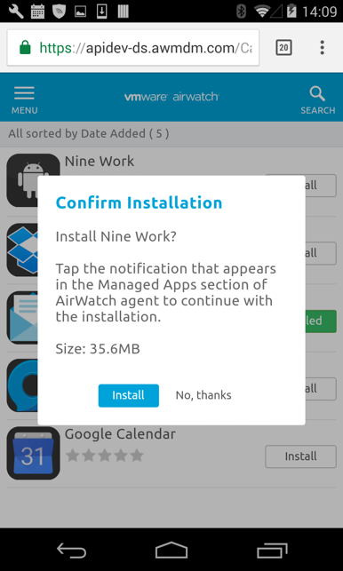 How to configure App Configuration Policies | Nine Work