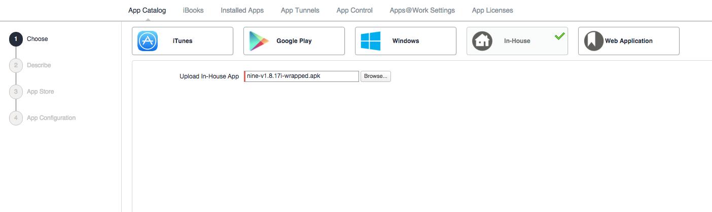 How to configure App Configuration Policies | Nine Work