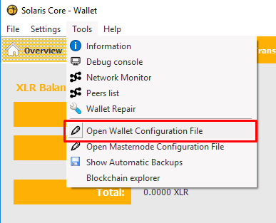 Open Wallet Configuration File | Stanford Center for Opportunity