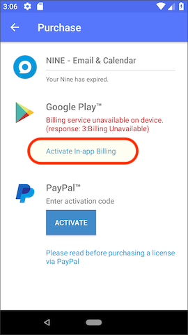 Activate In-app billing with Order number | Android - FAQ