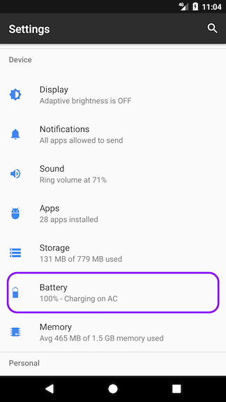 How to turn off battery optimization on the Google Android 6, 7