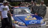 Earnhardt visits the National Guard
