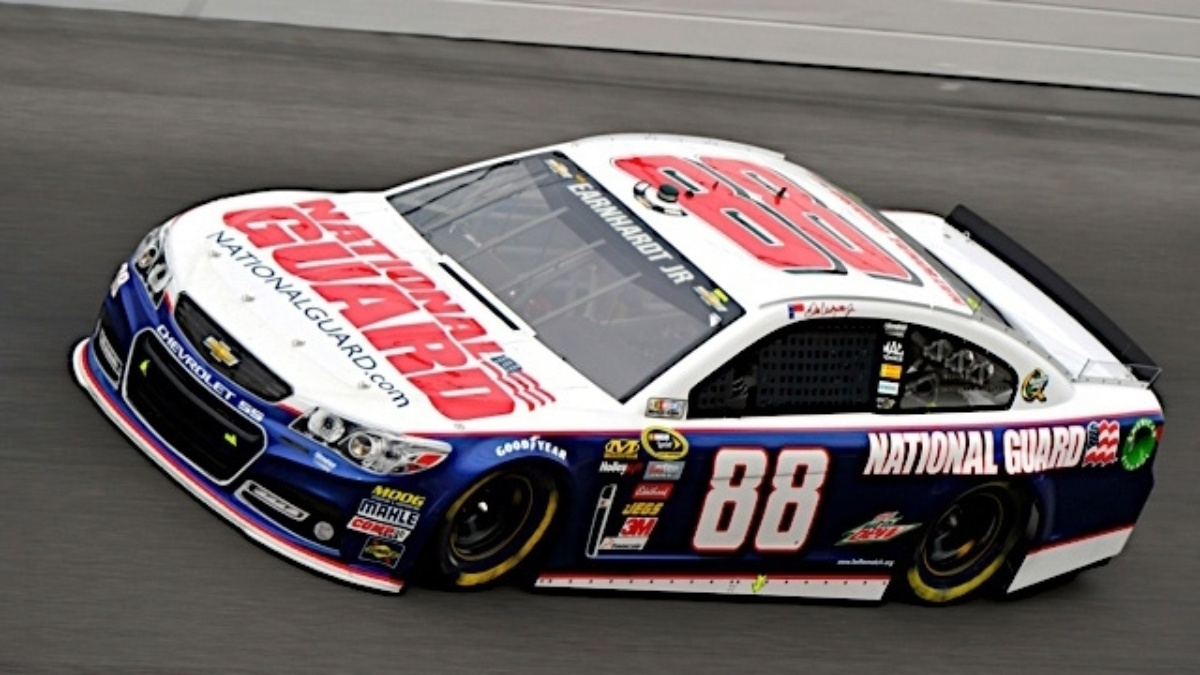 Earnhardt second, becomes new points leader&#x3B; teammates in top 12 at Fontana