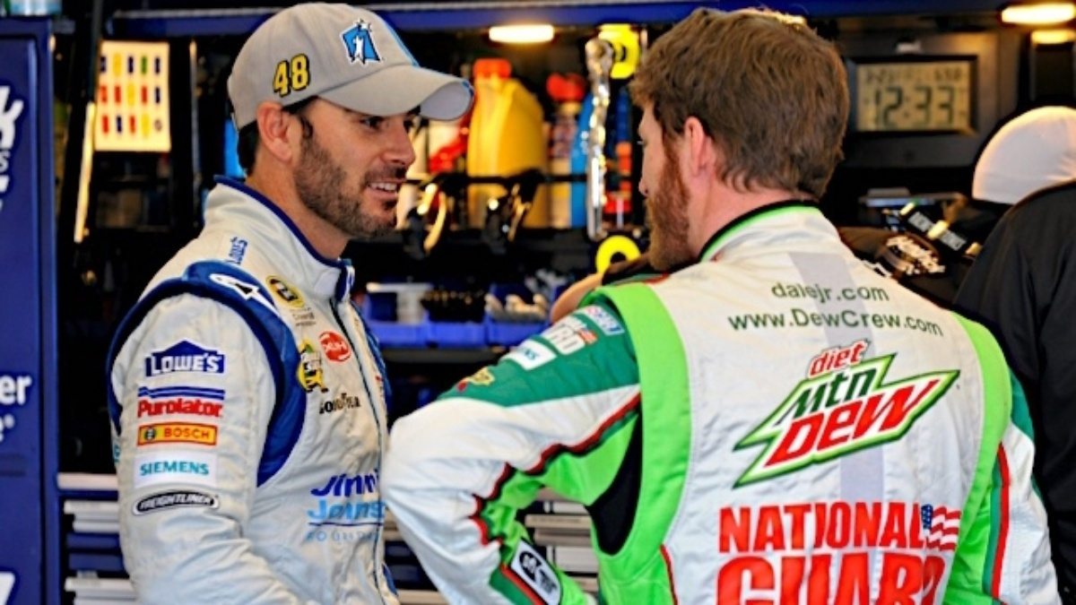 Earnhardt third, Johnson 10th after Fontana event called for rain