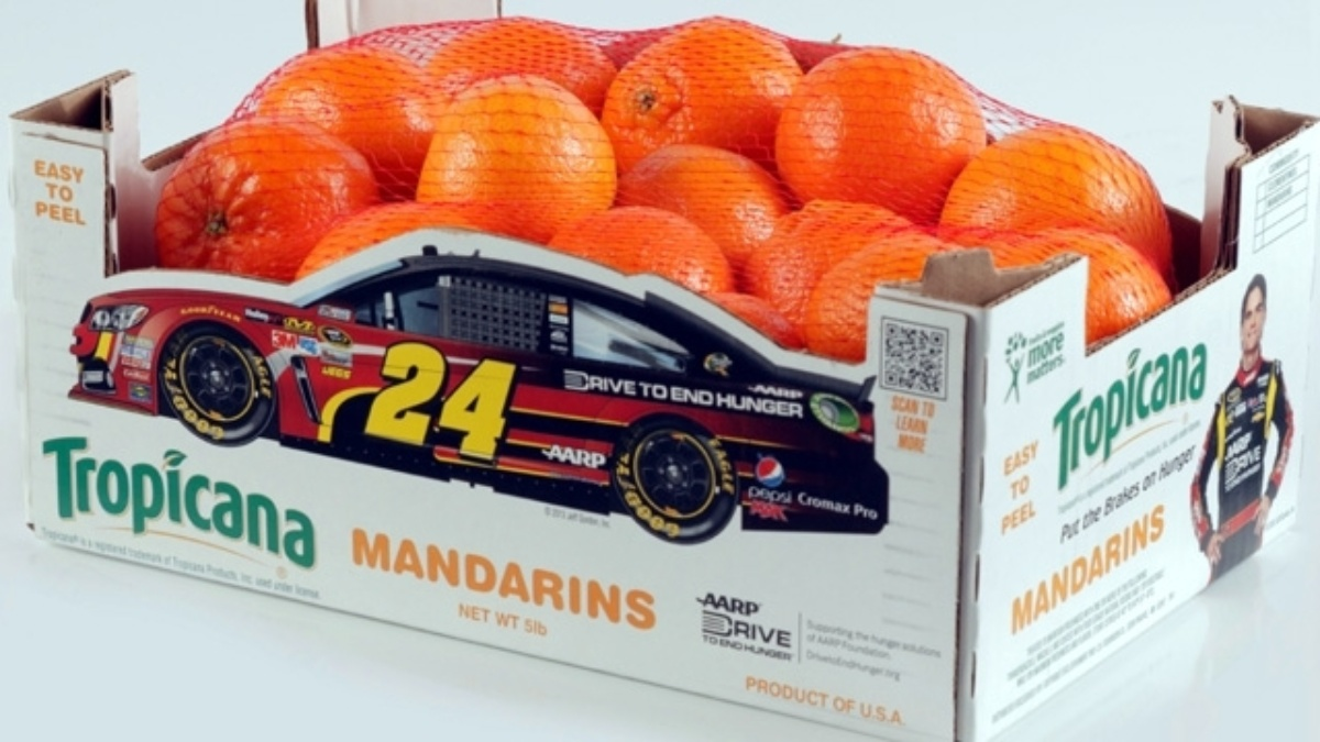 Gordon featured on new Tropicana clementines packaging to help fight hunger