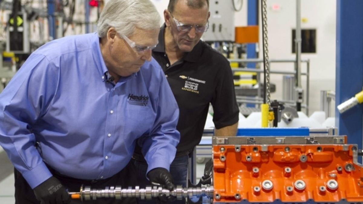 Rick Hendrick builds custom engine for 2012 COPO Camaro