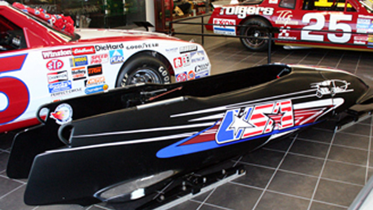 Bodine's gold-medal bobsled on display at Museum and Team Store