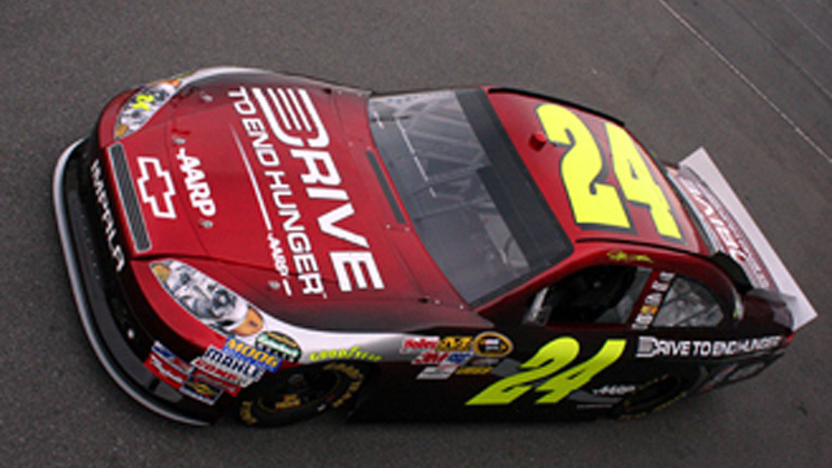Drive to End Hunger unveils new design for Jeff Gordon's No. 24 car
