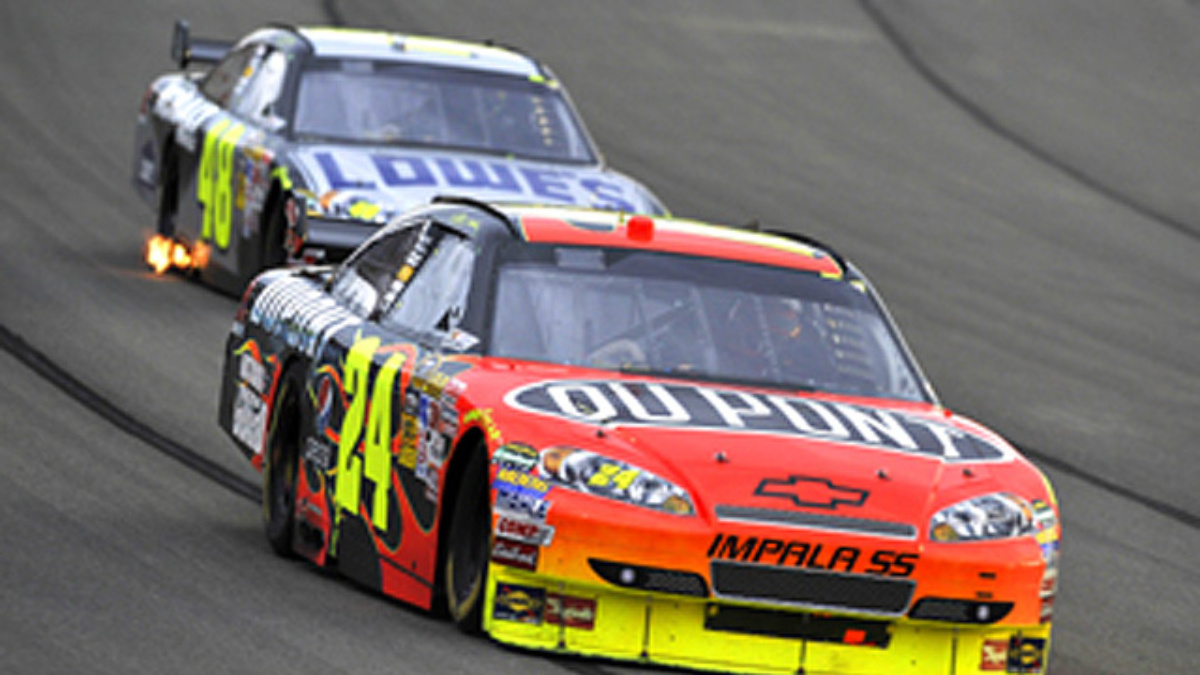 Race recap: Gordon takes second, Johnson ninth at Auto Club Speedway