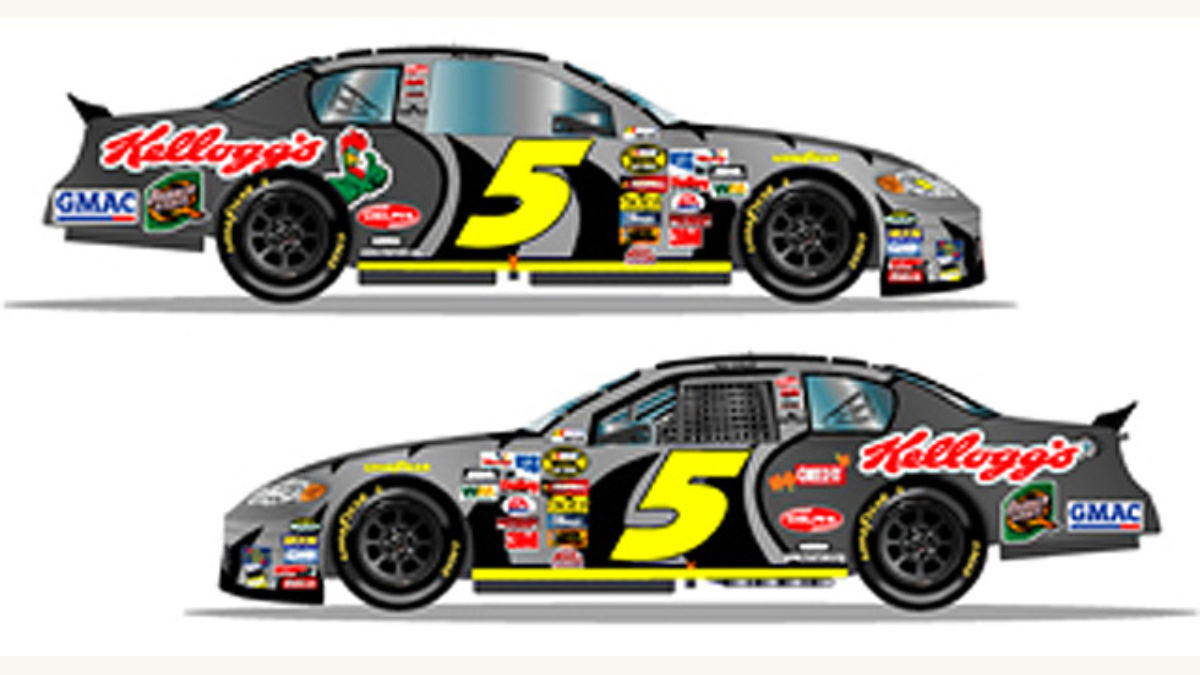 Special Paint Schemes for October Races at Lowe's
