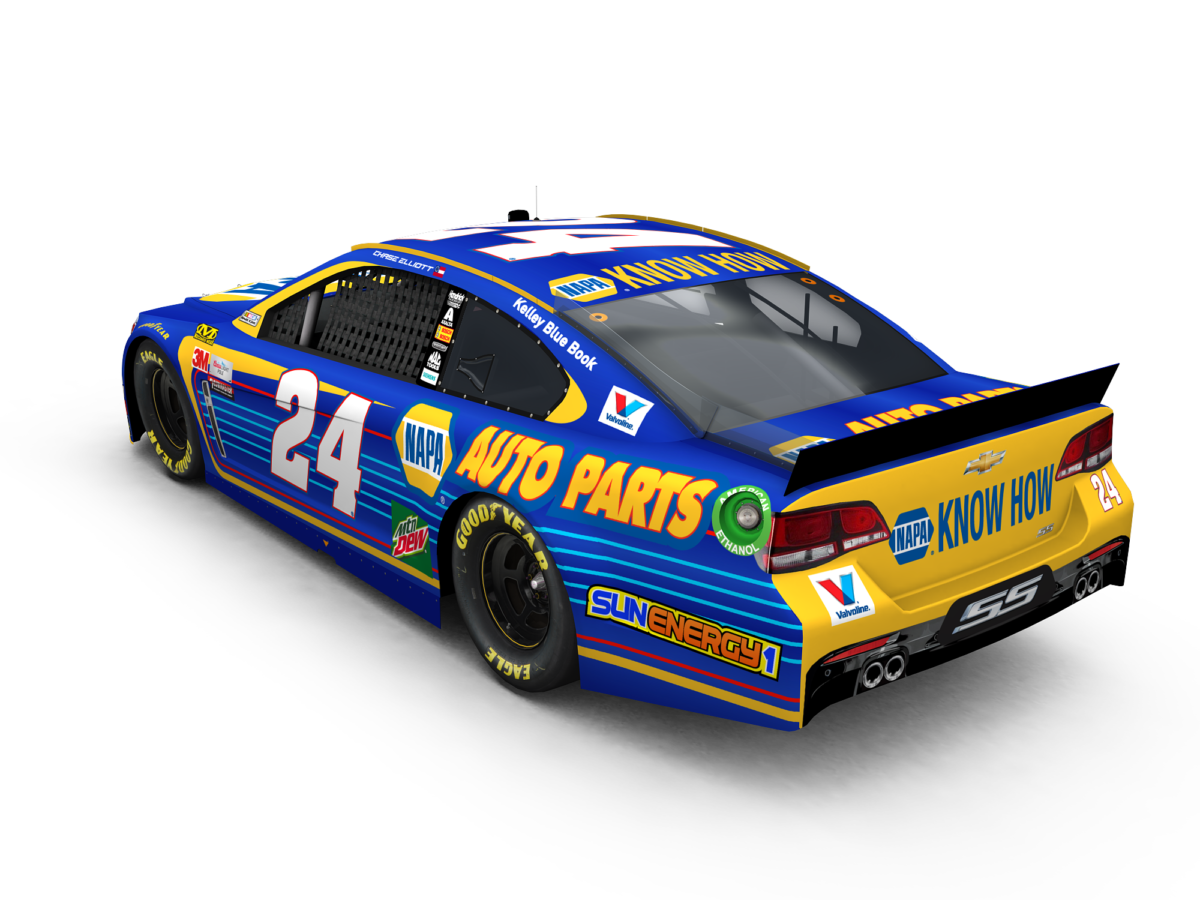 elliott debuts 2017 napa auto parts paint scheme hendrick motorsports. Black Bedroom Furniture Sets. Home Design Ideas