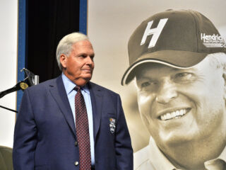 Hendrick receives NASCAR Hall of Fame jacket