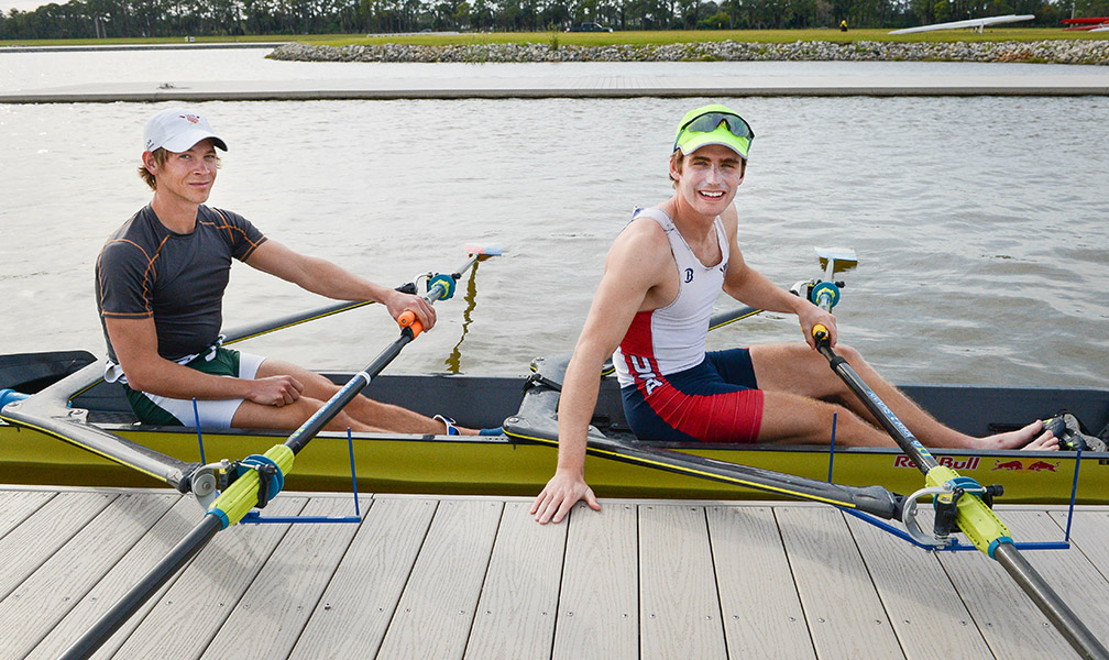 Josh Konieczny rowing