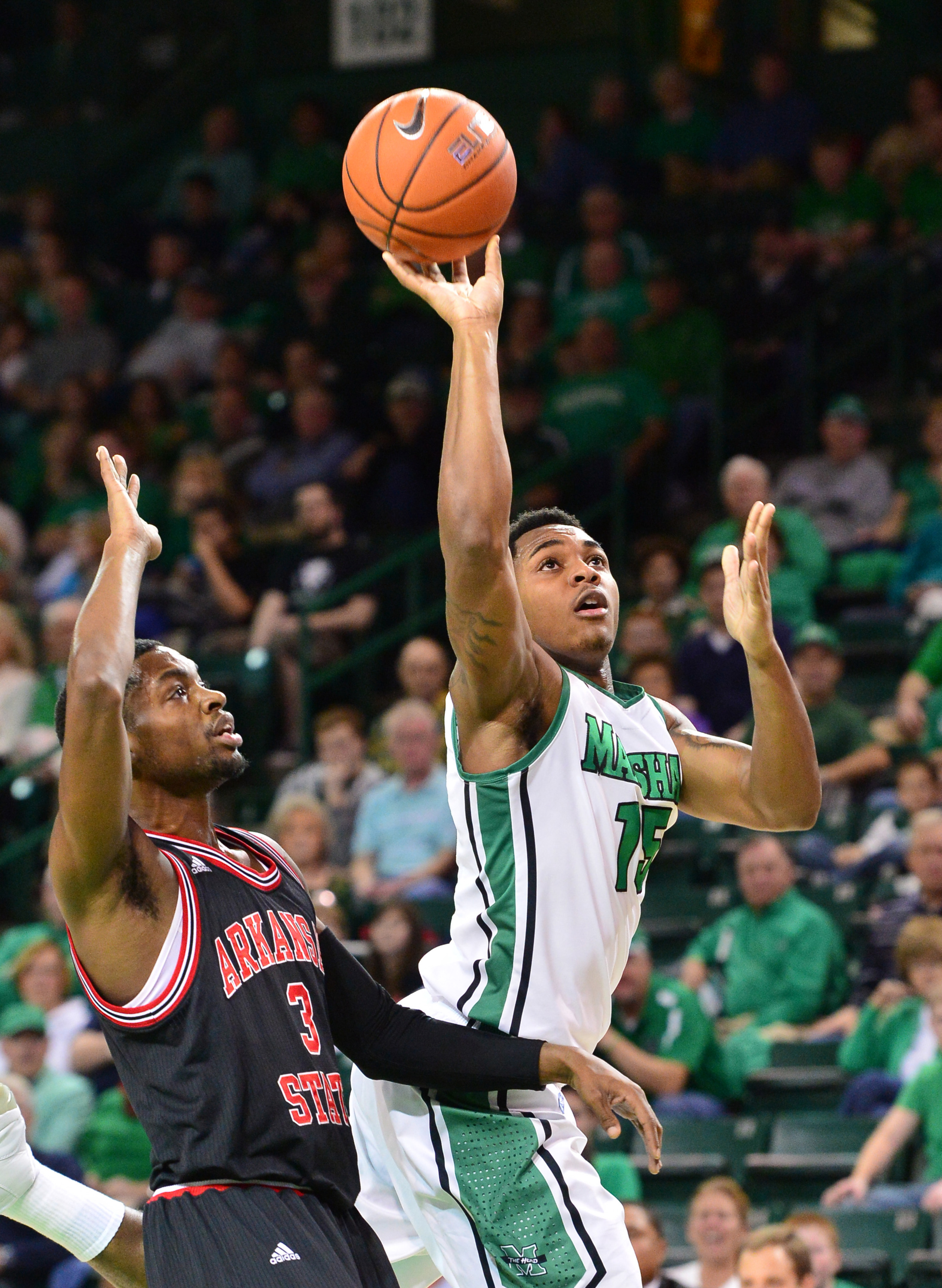 DeVince Boykins opened up the Marshall scoring at UTEP with a three-point bucket