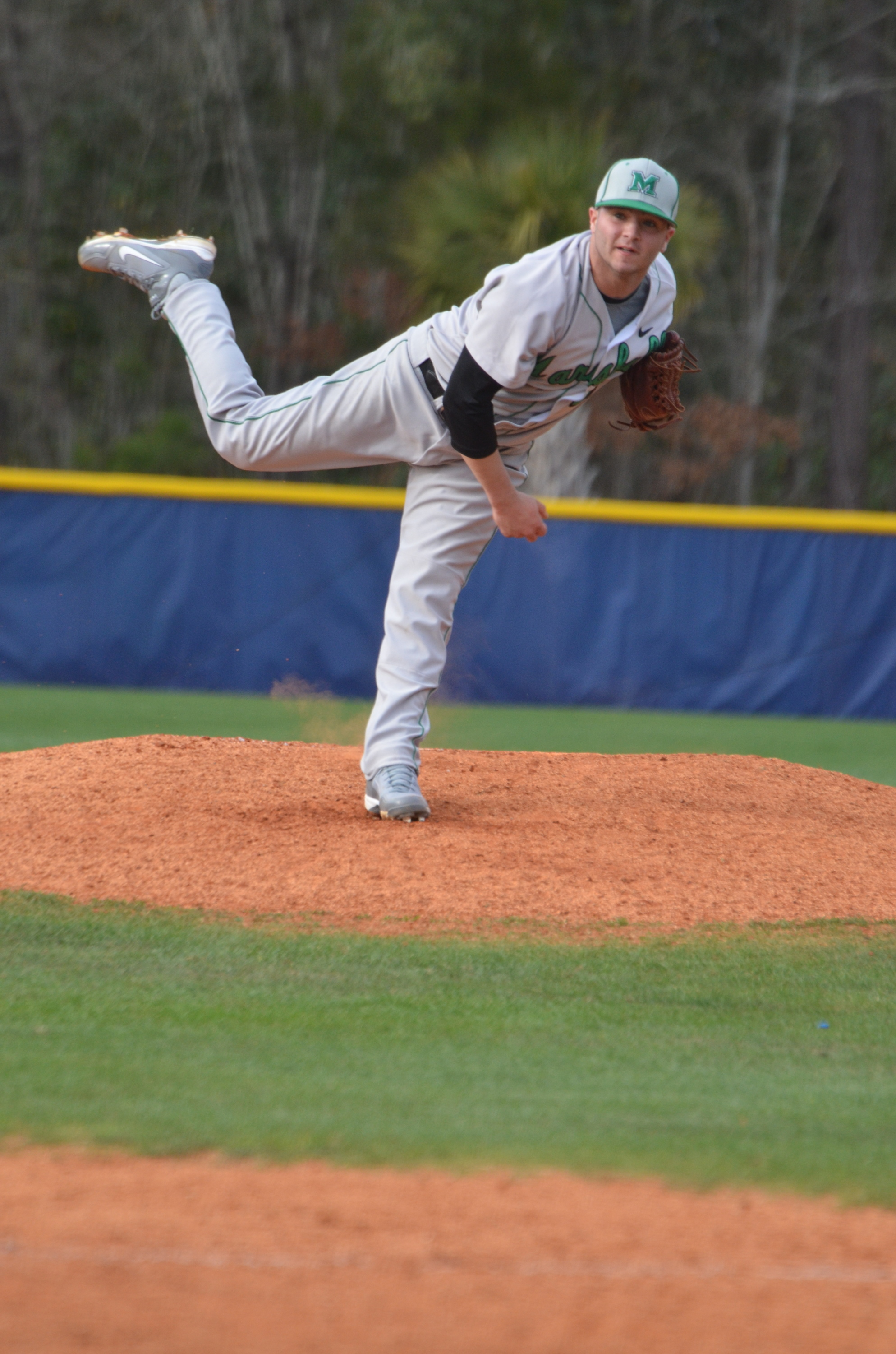 Starting pitching Matt Margaritonda tied his career high with six K's in the game