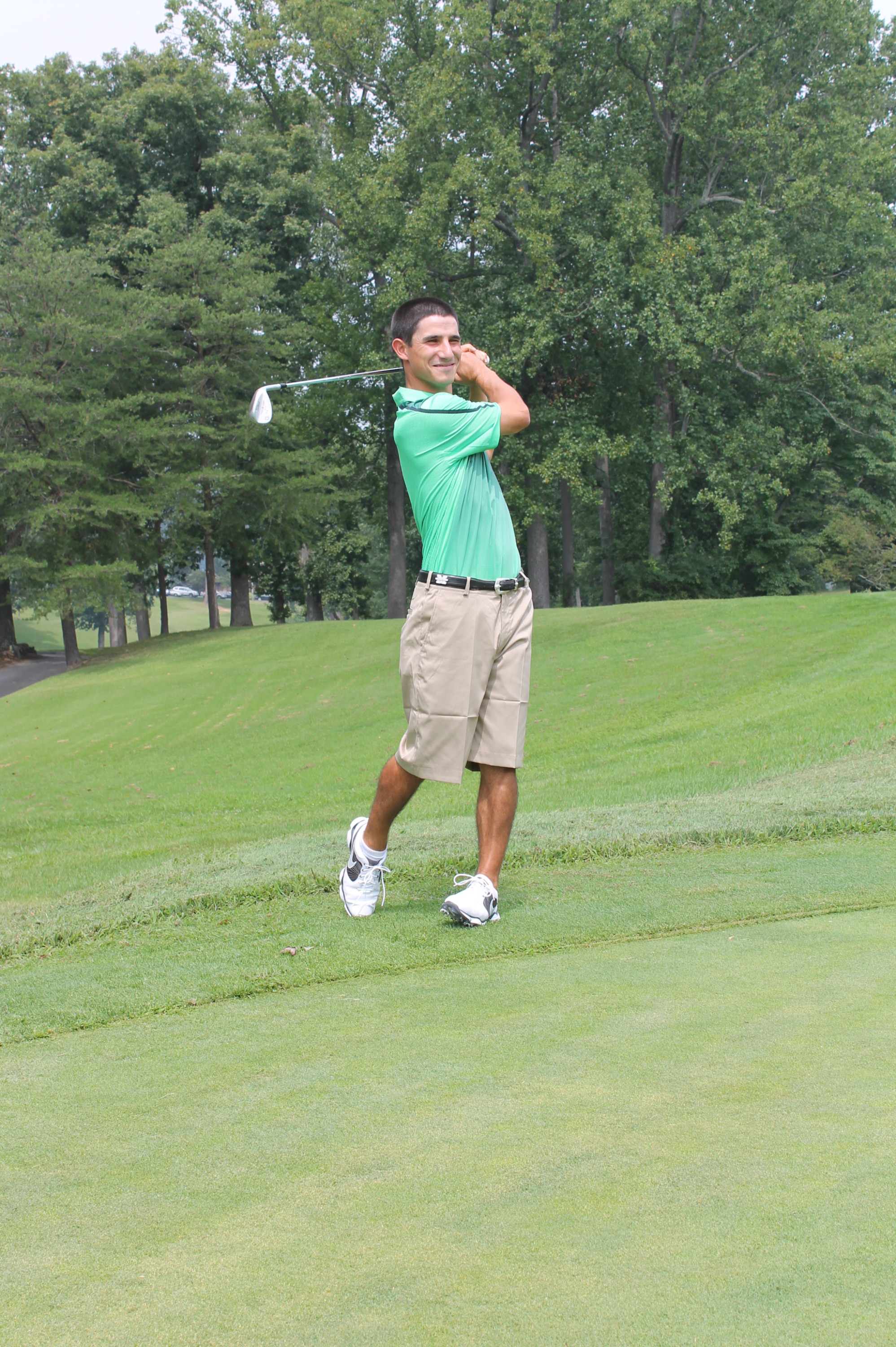 Brian Anania (above) and Clark Robinson lead the Herd after the second day.