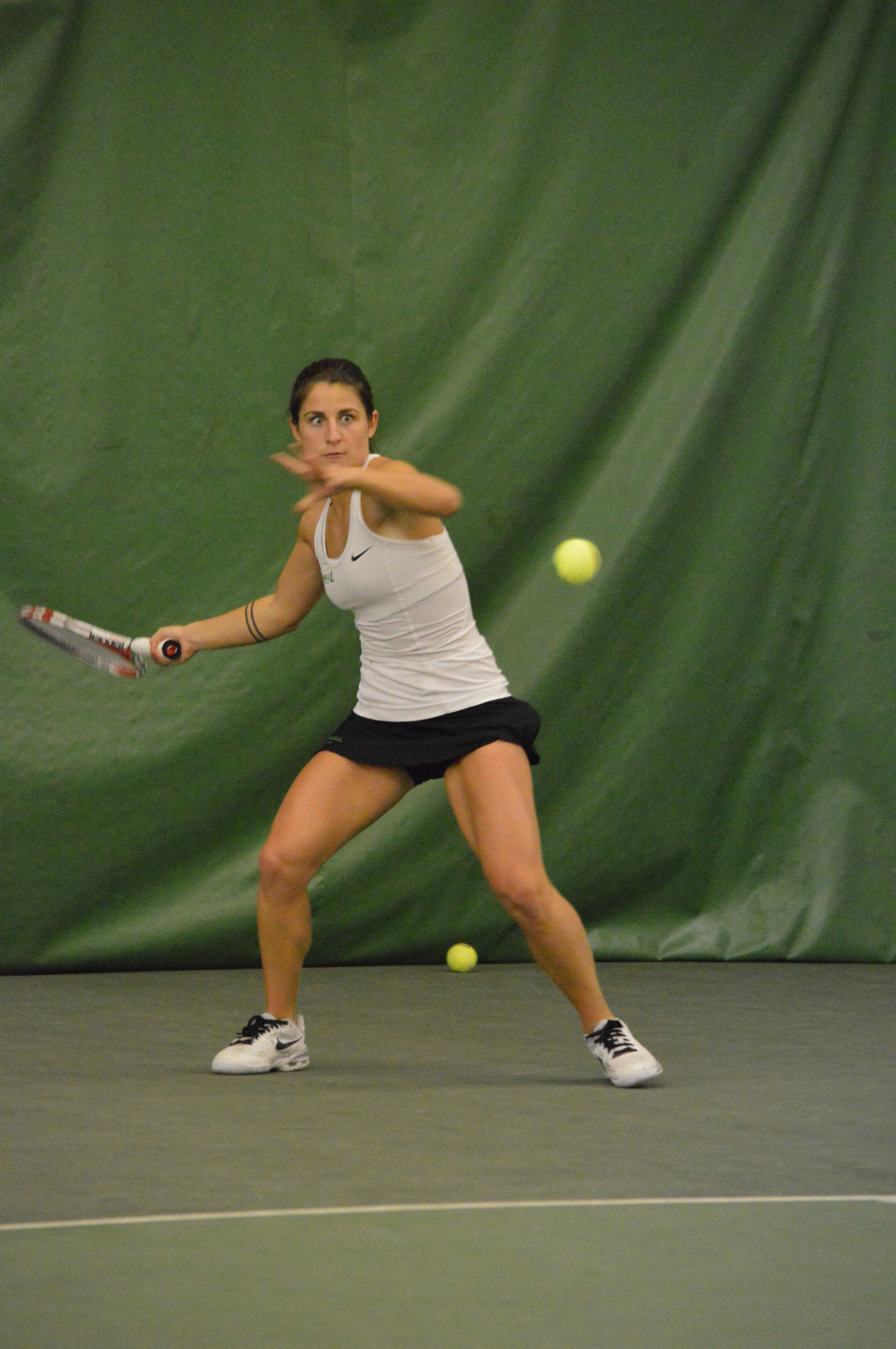Despite winning the doubles point, Marshall dropped the dual match.