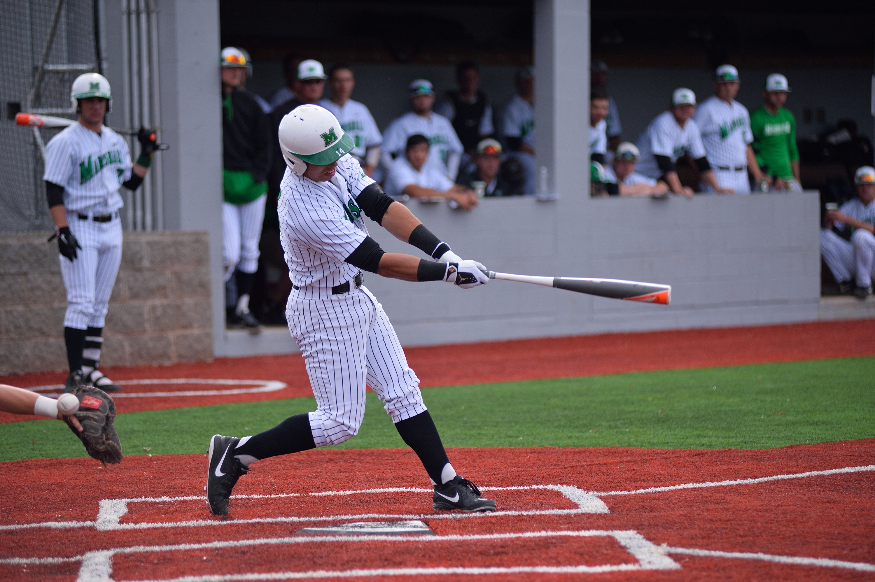Junior Andrew Dundon went 2-for-3 in the contest