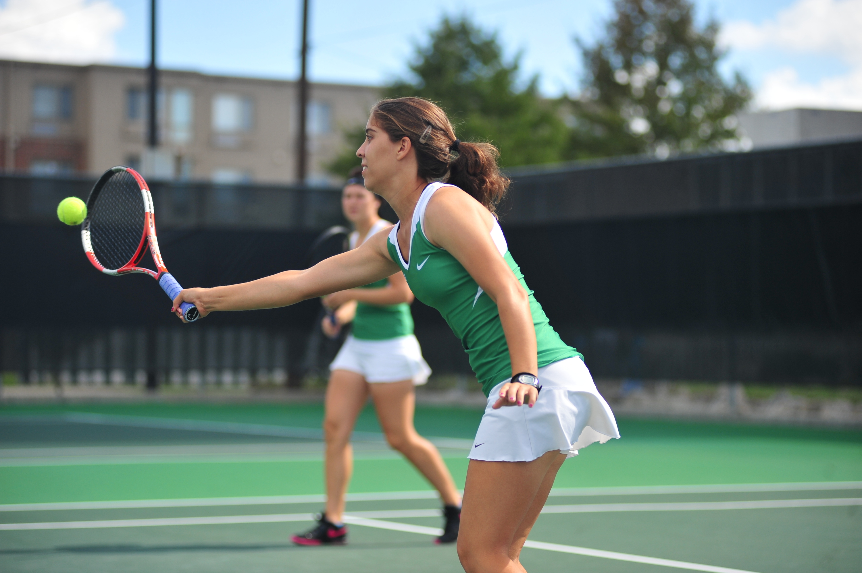 Rachael Morales earned a singles and a doubles win