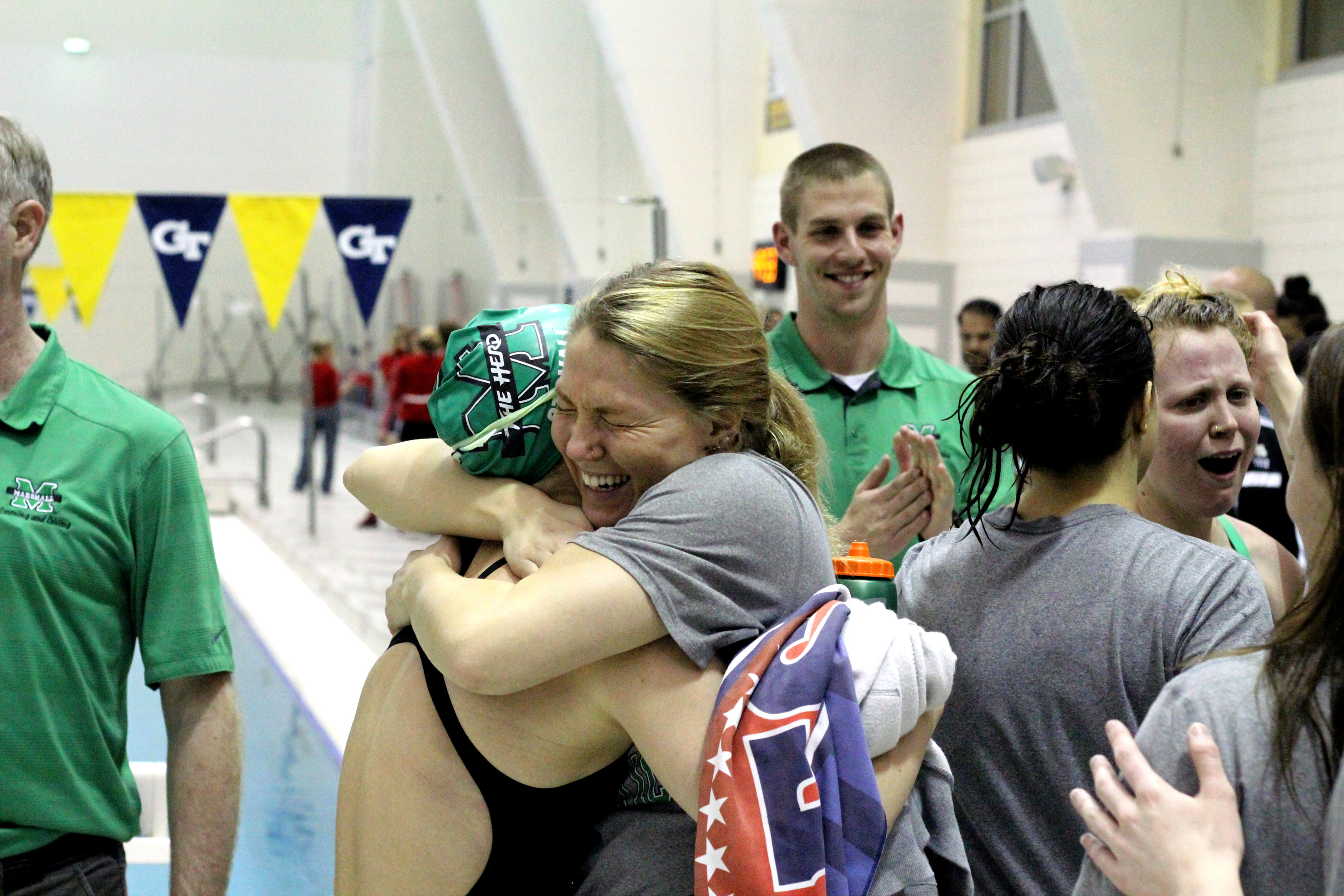 Marshall earned its first podium finishes at the Conference USA Championships Wednesday.