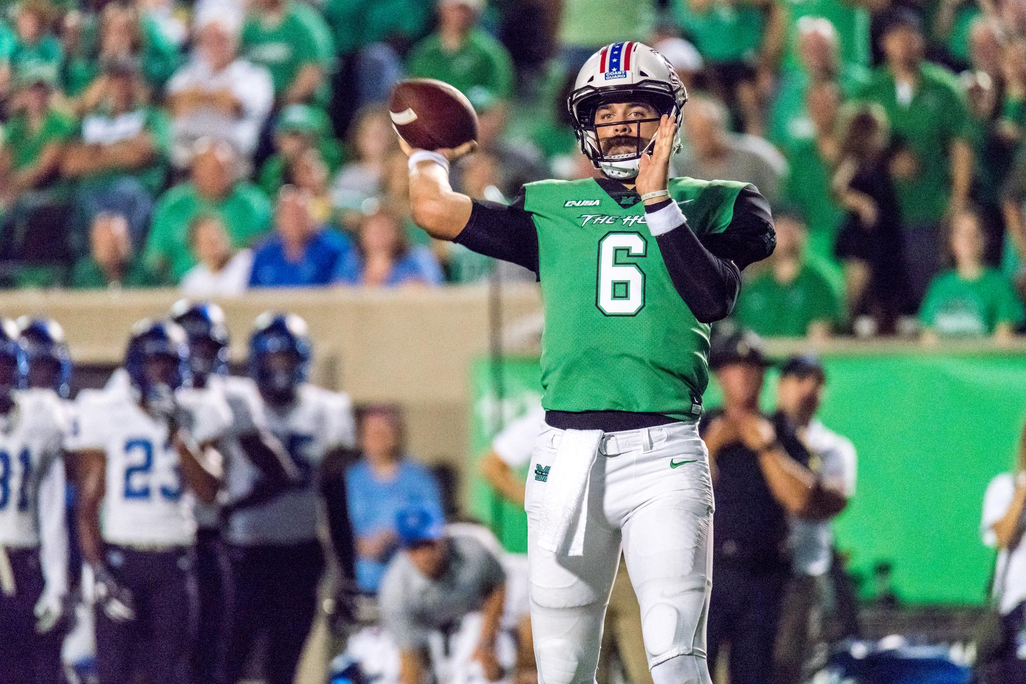 Mcgill Thomson Has Qb Look Now An Opportunity Marshall