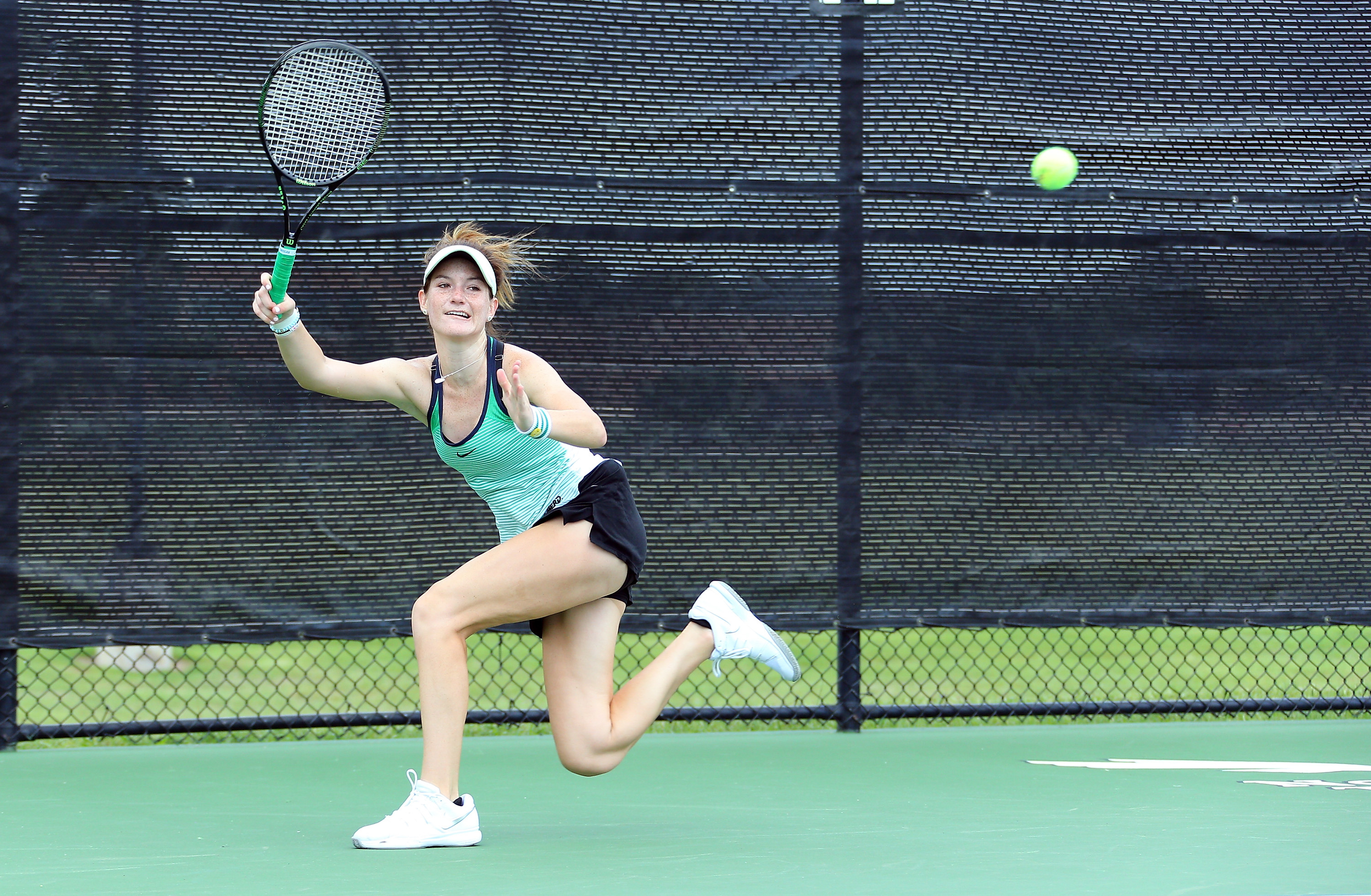 Maddie Silver teamed with Marija Bogicevic to win a doubles match.