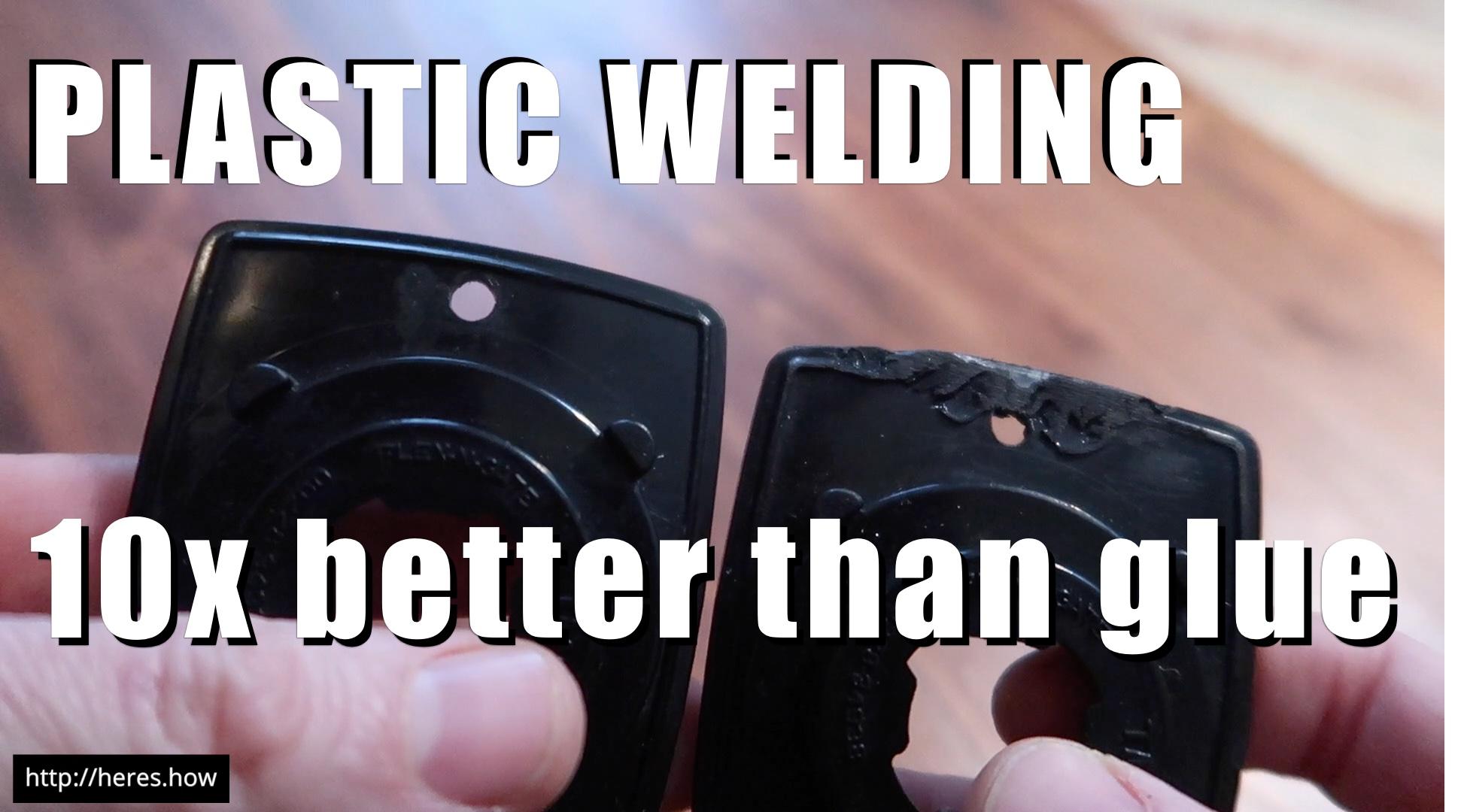 Fix broken plastic pieces with plastic welding