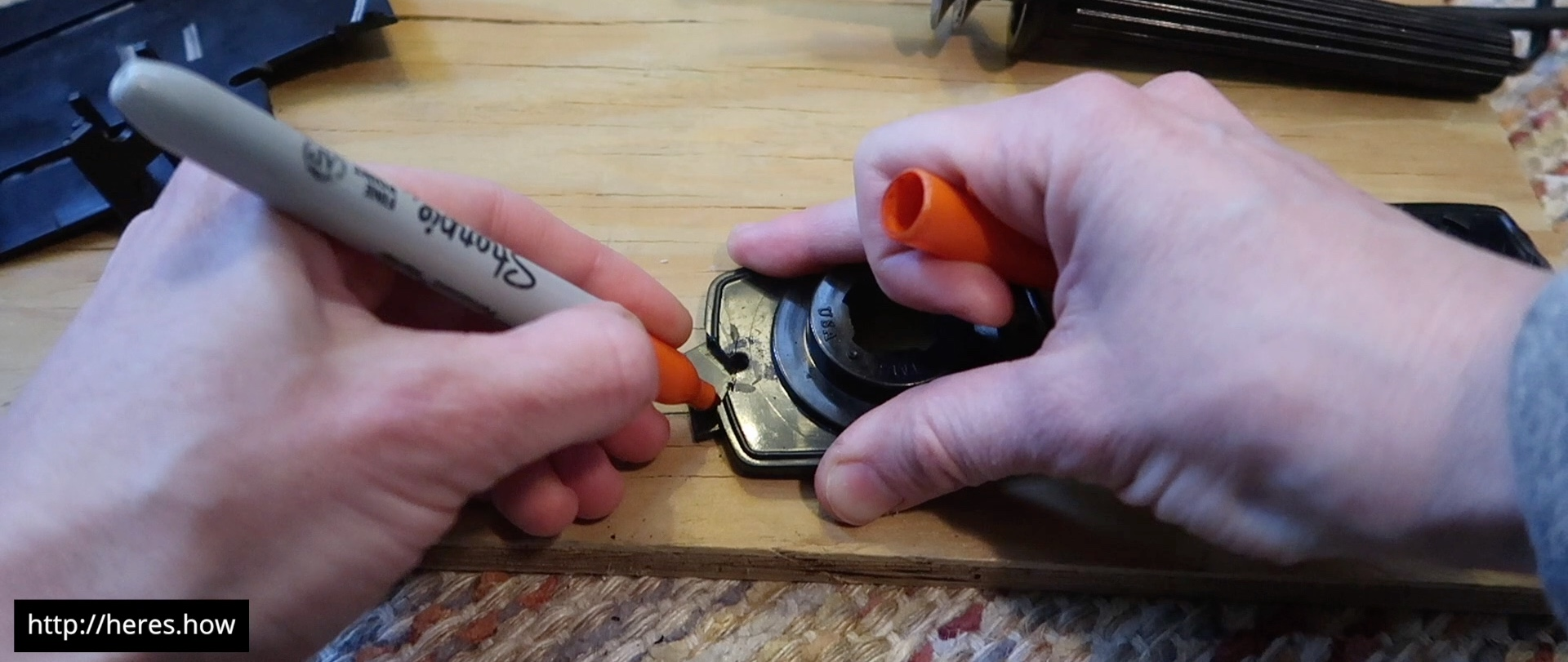 Marking plastic filler piece