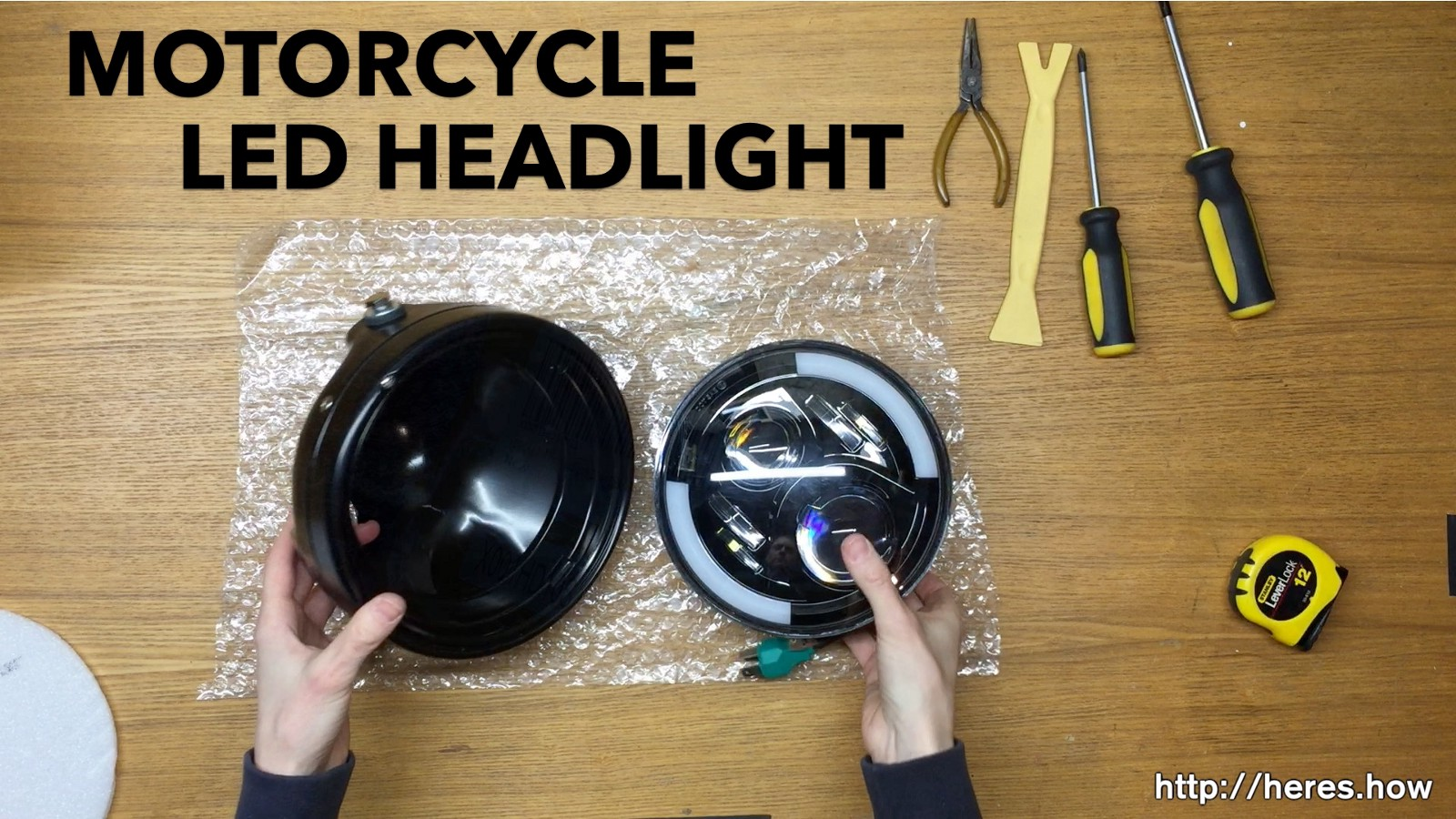"Install a 7"" LED Daymaker Headlight into a Sktyants housing bucket"