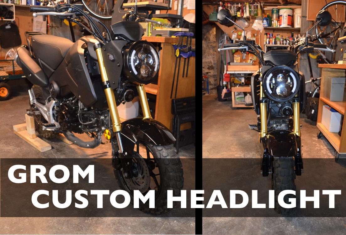 Honda Grom LED Headlight/turn signal conversion