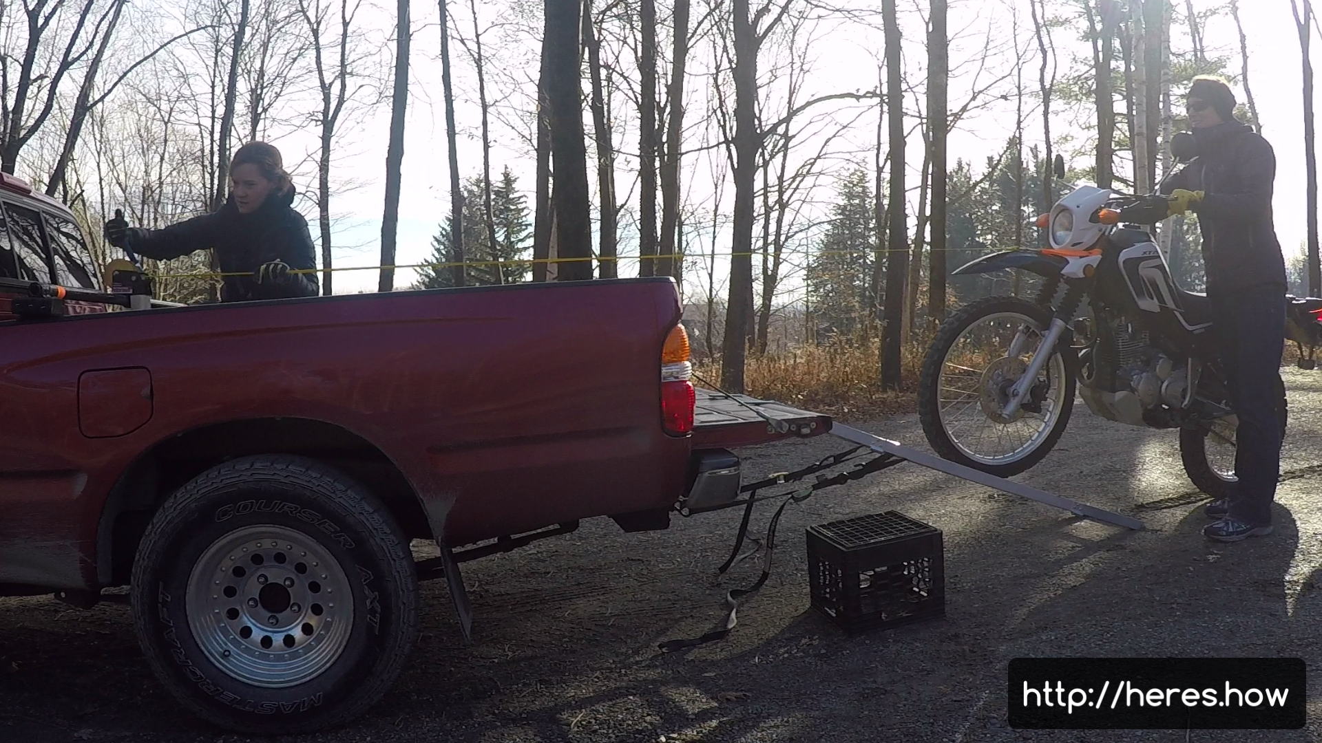 DIY portable winch system — Easily load a motorcycle in a pickup truck