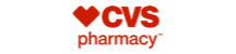 CVS logo. There are three elements to the logo: A heart, CVS, and the word pharmacy. The heart is boxy, with square edges on the top opposed to a normal heart with rounded corners. The letters CVS are bold and positioned next to the heart. Below the heart and CVS is the word pharmacy in smaller text.