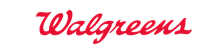 Walgreens logo. It's only the word Walgreens with no other mark. The logo is bright red and in a cursive font. The W in Walgreens is uppercase and the rest is lowercase.