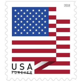 USA Forever Stamp, USA flag design