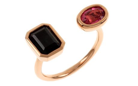 Ring 750/- Rotgold mit Turmalinen