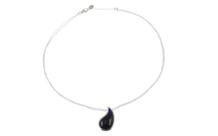 ESPRIT Collier Drip Drop 925/- Sterlingsilber mit blauem Stein