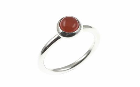 PANDORA Ring 925/- Sterlingsilber mit Karneol
