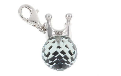 ESPRIT Charm Krone 925/- Sterlingsilber mit Glaskugel