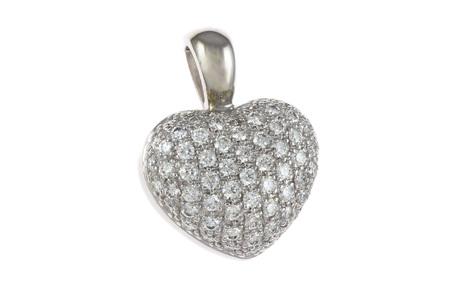Anhänger Herz 585/- Weißgold mit Diamanten