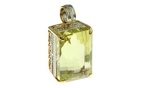 Anhänger 750/- Gelbgold und Weißgold mit Diamanten und Beryll