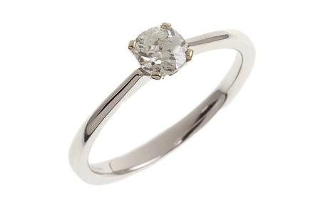 Ring 750/- Weißgold mit Diamant im Altschliff