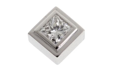 Anhänger 585/- Weißgold mit Diamant Handarbeit